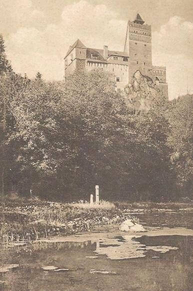 Bran Castle, Romania vintage image