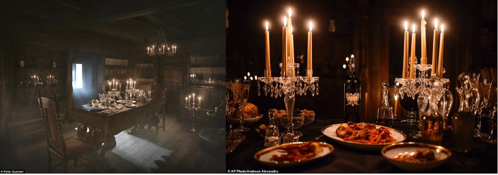 Dinner at Dracula's castle