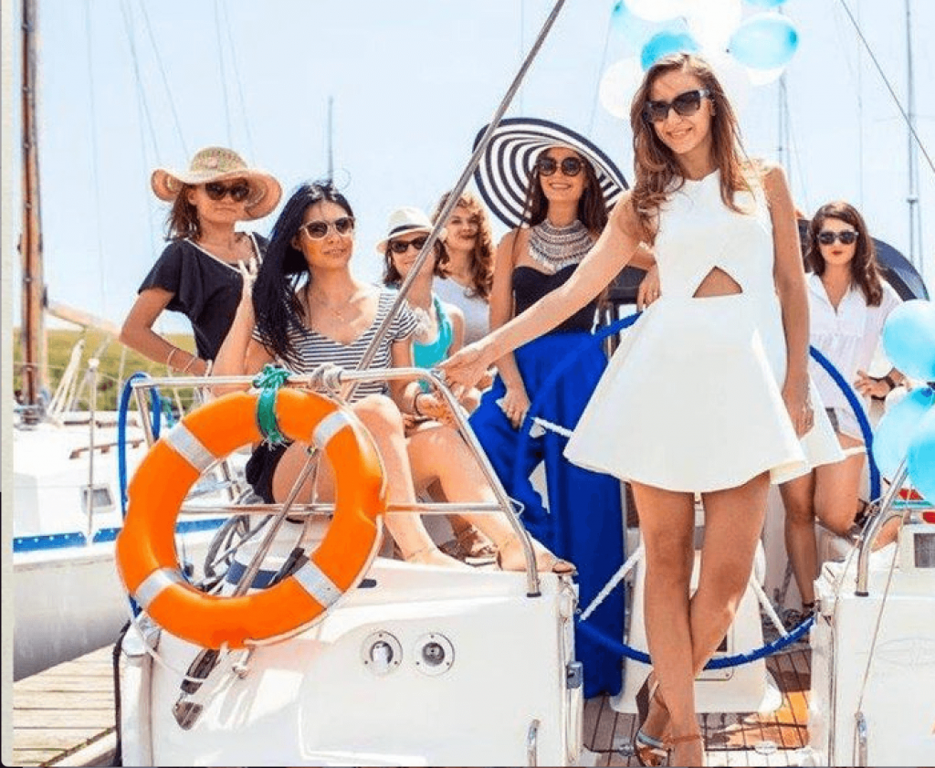 Bachelorette yacht party Mamaia Romania