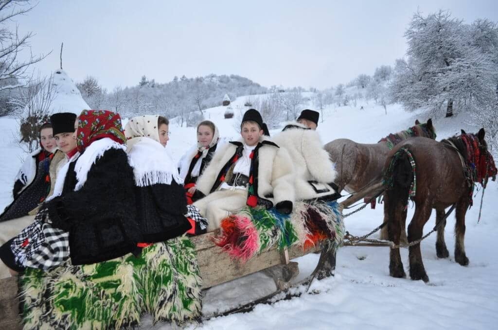 Maramures horse sleigh